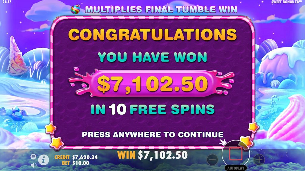 sweet bonanza slot big win