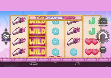 Stacked Valentine Hearts Slot